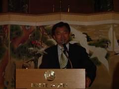 講演する元喜籠(ウォン・ヒリョン)ハンナラ党最高委員