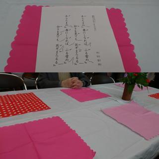 手作りのテーブルセット