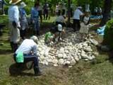 石積み作業